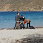 Beachcleaning Amorgos- March 2013